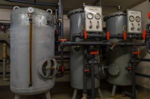 Wasserfilteranlage und Drucktank